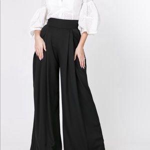Ryan Kennedy Kollection Pants - Bell Slacks (Black)
